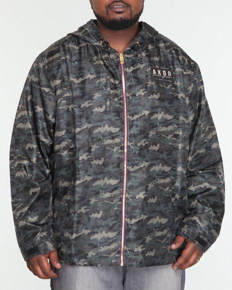 Akoo Men Sage Nylon Jacket (B & T) - Outerwear