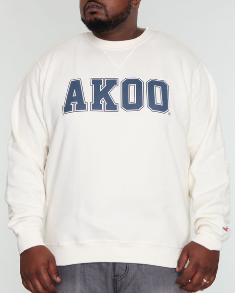 Akoo Men Scholar Fleece Crew Sweatshirt - Outerwear