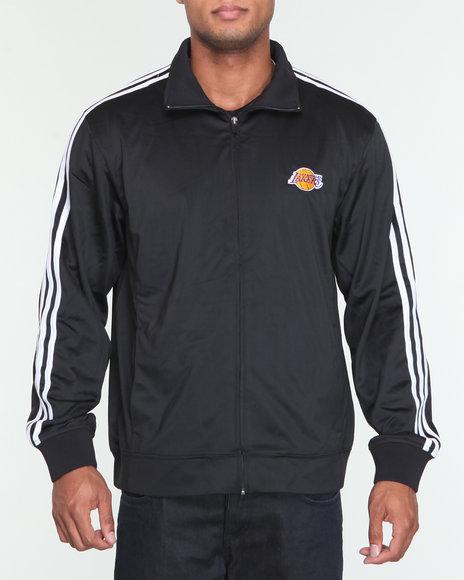 Adidas Men Black Los Angeles Lakers Track Jacket