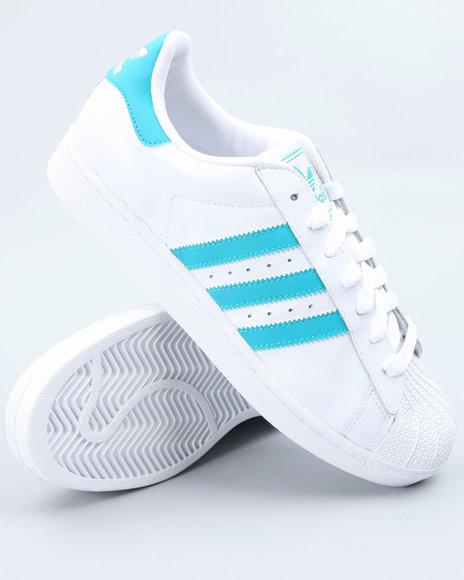 Adidas Men White Superstar 2 Sneakers