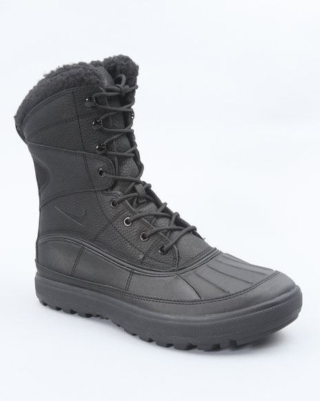 Nike Men Black Nike Woodside Ii Hi Boots