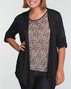 Women - Cheetah top w/black jacket 2fer (plus)