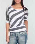 Women - STRIPE DOLMAN TOP
