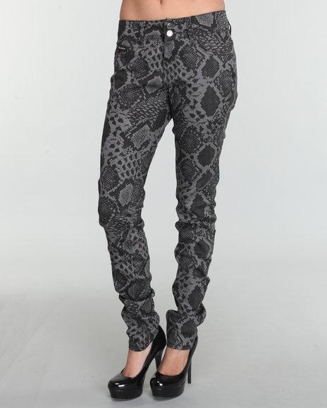 Rocawear Women Grey Rattle Snake Jeans