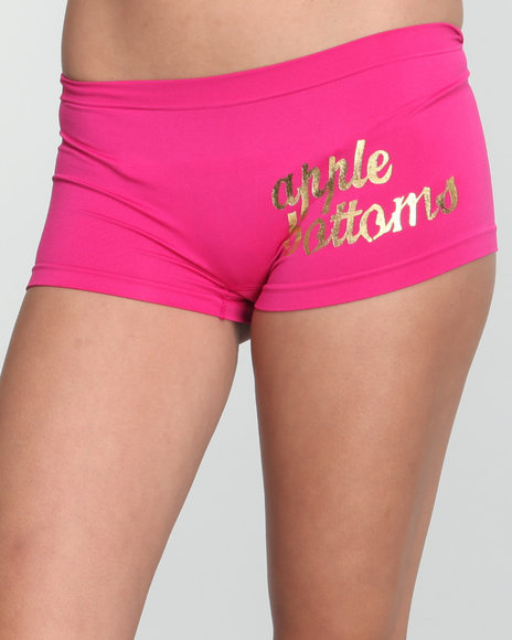 Apple Bottoms Women Pink Wild Side Ab Seamless Boyshort
