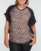 Women - Animal print top (plus)