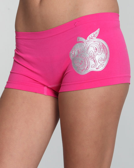 Apple Bottoms Women Pink Brighten Up Seamless Boyshort