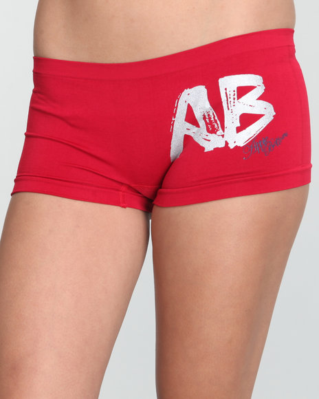 Apple Bottoms Women Red Fashionating Seamless Boyshor