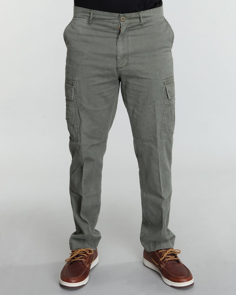Rothco - Men Olive Rothco Slim Vintage Flat Front Cargo Pants