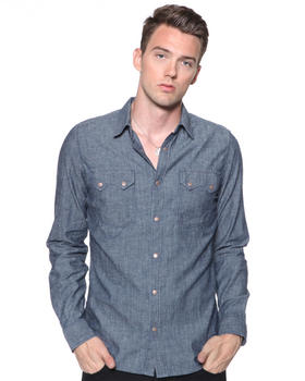 Nudie Jeans - Gusten Organic Dark Chambray Denim Shirt