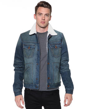 DJP OUTLET - Daltry Sherpa Jacket in Duster