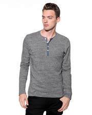 DJP OUTLET - Japanese Heather Jersey Henley