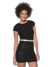 DJP Basics - Sweater Dress w/ Metallic Belt