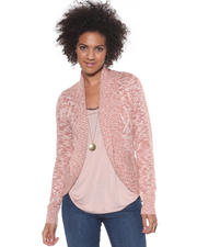 Women - Shawl Collar Open Cardgian