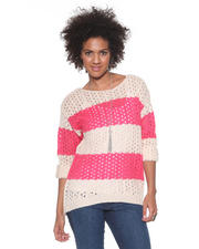 DJP Basics - Open Stitch Striped Sweater