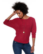 Women - Open Neck Lurex Sweater