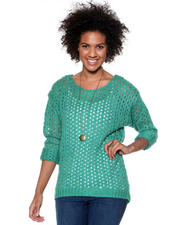 Women - Marbeled Open Stitch Sweater