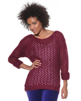 DJP Basics - Marbeled Open Stitch Sweater
