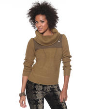 Women - Calvary Collar Knit Sweater