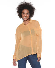 DJP OUTLET - Martha Button Down Crinkle Bouse