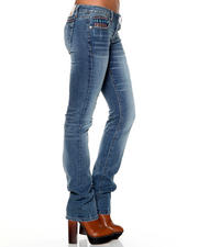 Women - Karma Straight Jeans w/ Embroidery Detail