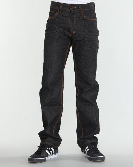 COOGI Men Black Kangaroo Logo Denim Jeans