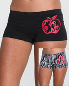 Women - 2 Pc Solid & Zebra Seamless Shorts