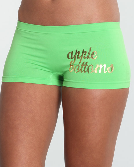 Apple Bottoms Women Green Wild Side Logo Seamless Short