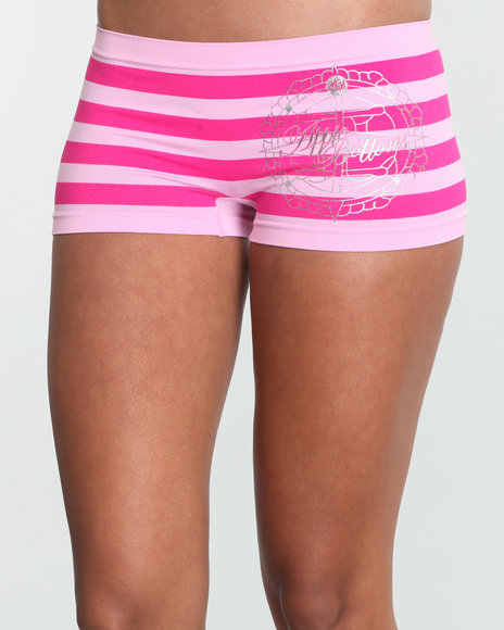 Apple Bottoms Women Pink Stripe Across Ab Seamless Boyshort