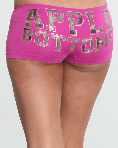 Apple Bottoms Women Pink Camo Insert Seamless Boyshort