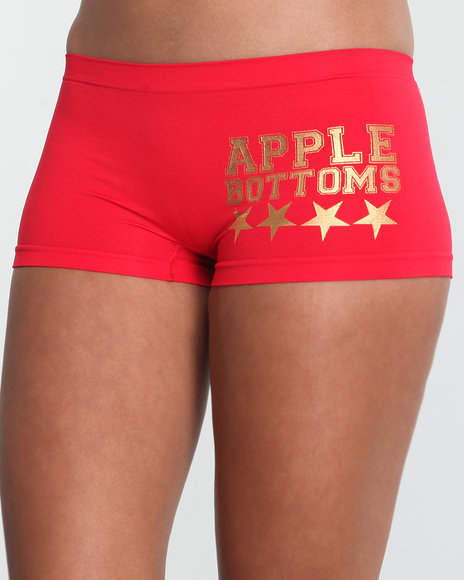 Apple Bottoms Women Red Camo Insert Seamless Boyshort