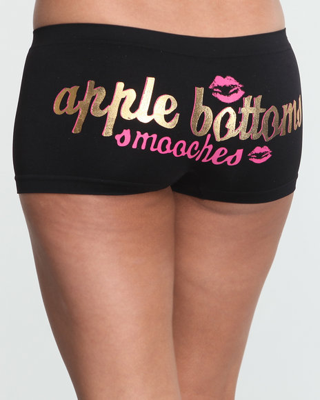 Apple Bottoms Women Black Smooches Ab Seamless Boyshort