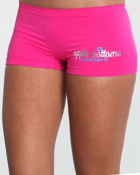 Apple Bottoms Women Pink Smooches Ab Seamless Boyshort