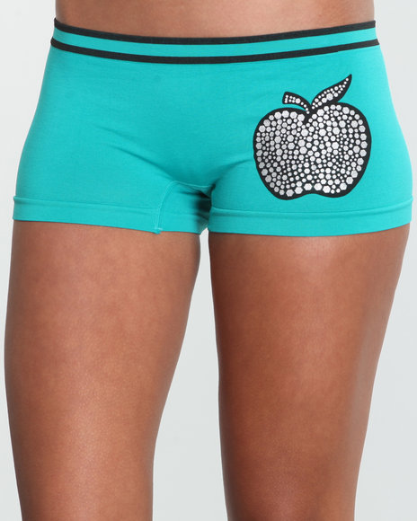Apple Bottoms Women Green Flash Lights Seamless Boyshort