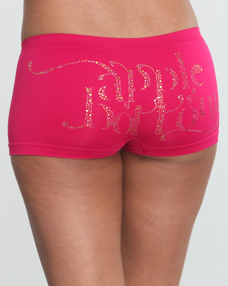 Apple Bottoms Women Pink Pebbles Ab Seamless Boyshort