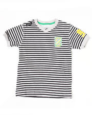 Boys - Absolute Jeanius V Neck Stripe Tee (4-7)