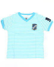 4-7x Little Boys - Absolute Jeanius V Neck Stripe Tee (4-7)