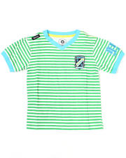 Boys - Absolute Jeanius V Neck Stripe Tee (8-20)