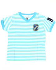 Short-Sleeve - Absolute Jeanius V Neck Stripe Tee (TOD)