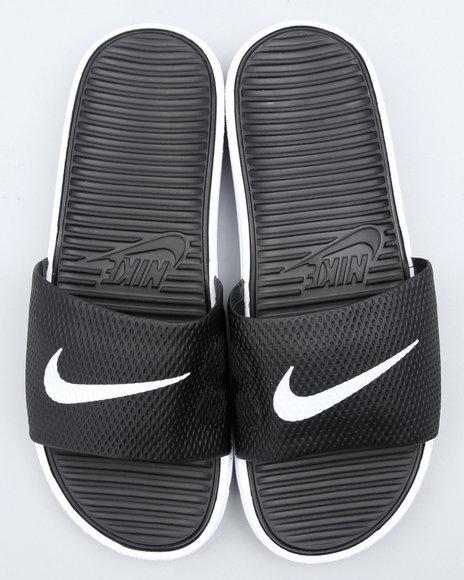 Nike Men Black Benassi Solarsoft Slide Sandals