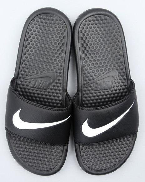 Nike Men Black Benassi Swoosh Anthracite