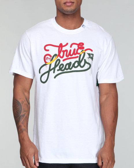 LRG Men White True Heads Tee