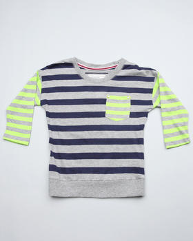 Southpole - Boat neck stripe 3/4 sleeve top (big girls)