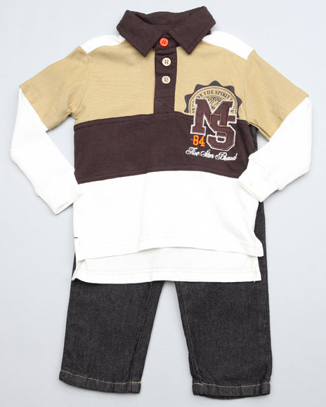 Mecca Boys Brown 2Pc Top N Jean