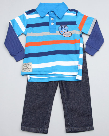 Mecca Boys Blue 2Pc Top N Jean
