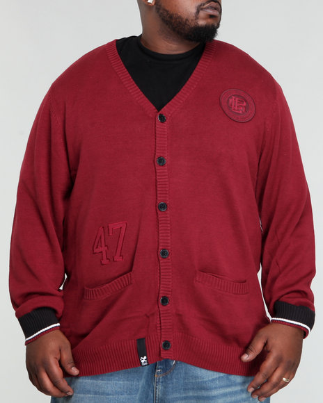 LRG Men Maroon Charter School Cardigan (B&T)