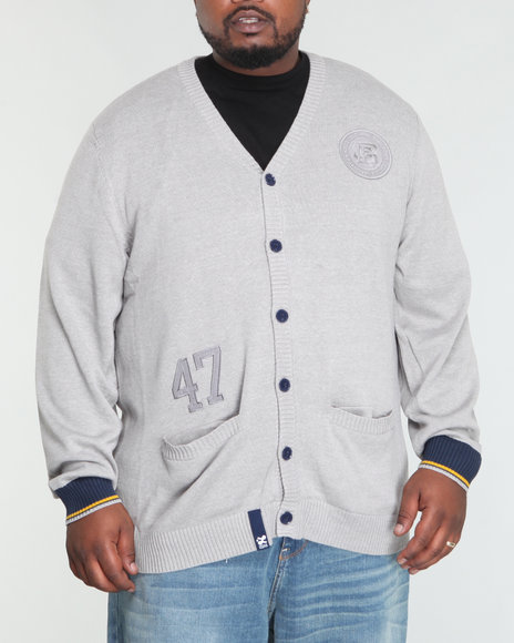 LRG Men Light Grey Charter School Cardigan (B&T)