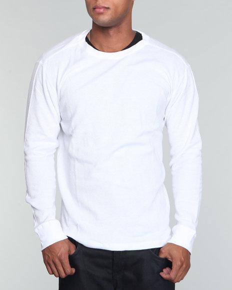 Company 81 Men White L/S Crewneck Thermal Shirt