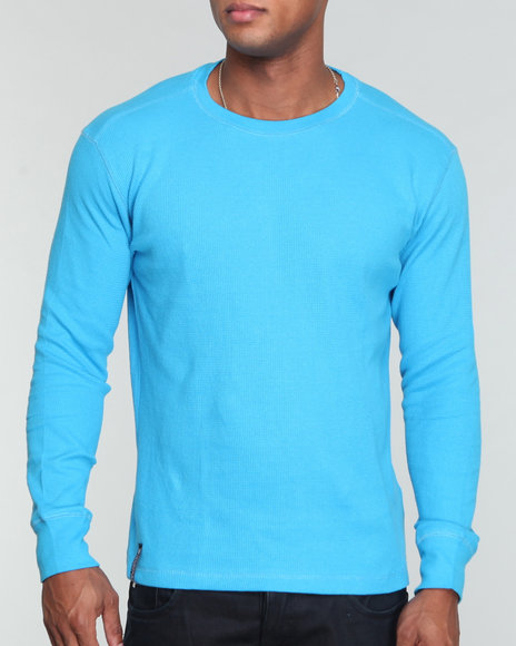 Company 81 Men Blue L/S Crew Neck Thermal Shirt