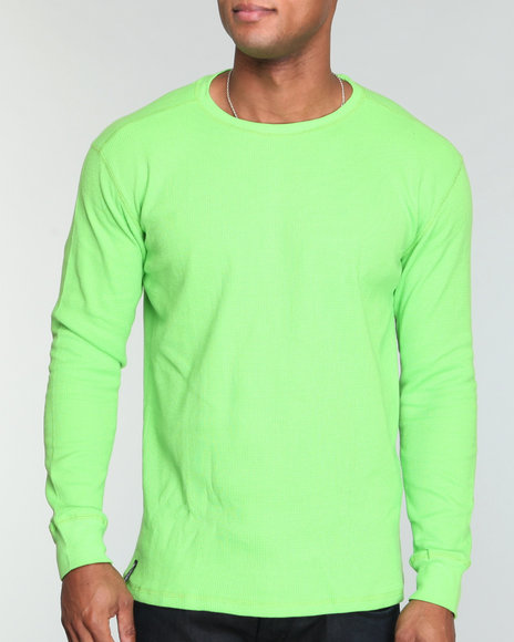 Company 81 Men Lime Green L/S Crew Neck Thermal Shirt